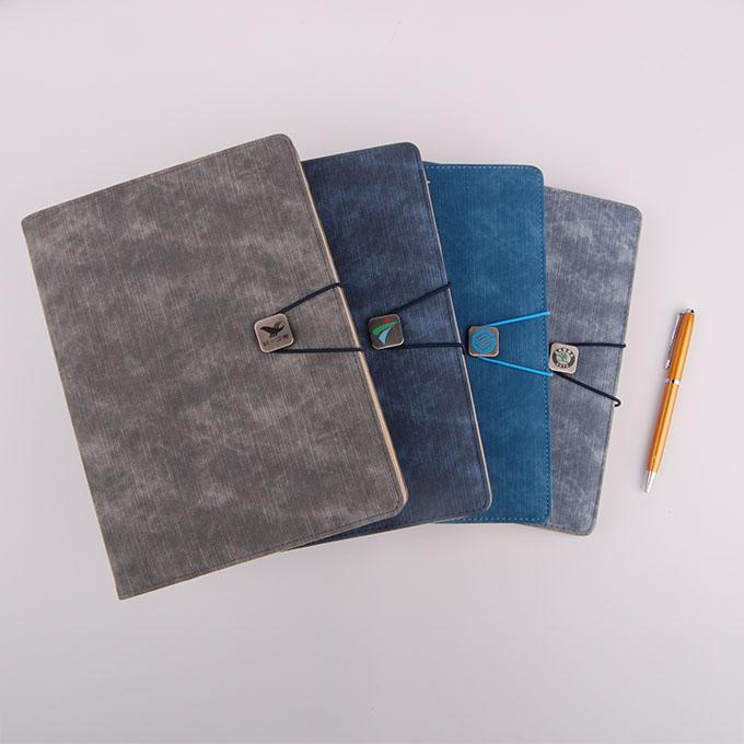 五金彩印绑绳活页记事本