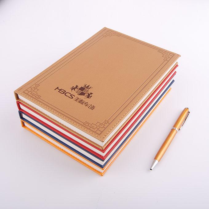 古典边框多色pu直角裱装记事本