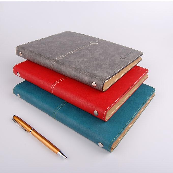 五金装饰线油边活页笔记本
