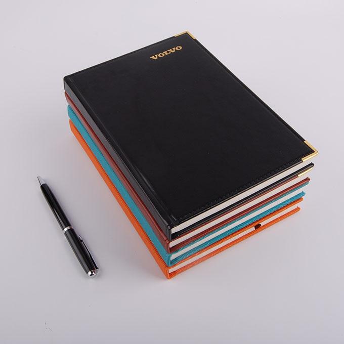 经典直角精装pu笔记本